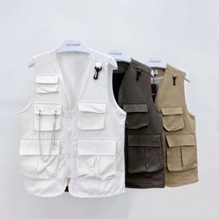 [Mã WABR44 giảm 15% đơn 300k] Áo gile nam nữ kaki túi hộp AK9520 by COC CACH thumbnail