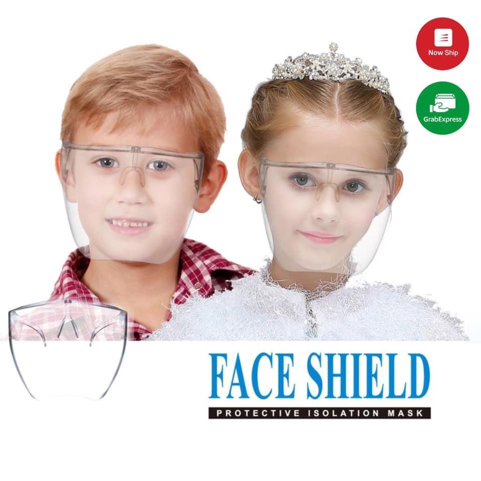 Kính chắn giọt bắn trẻ em / kid che hết mặt FACE SHIELD chống giọt bắn