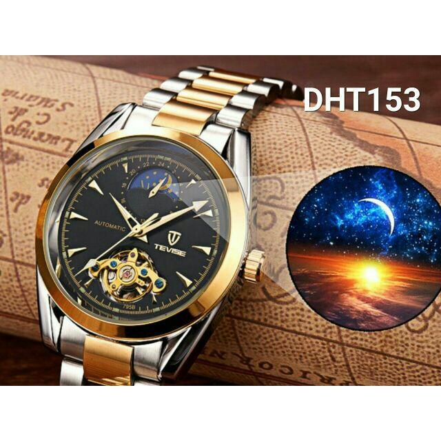 Đồng hồ nam cơ lộ máy cực chất - Tevise DHT153