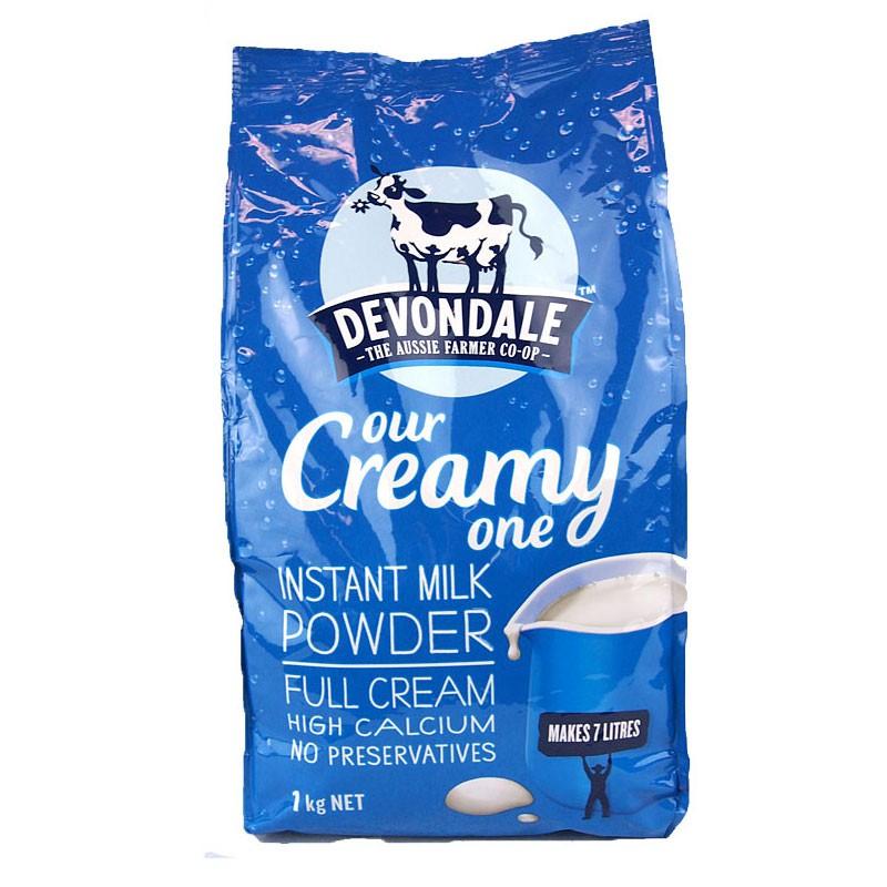 Sữa nguyên kem devondale bột 1kg