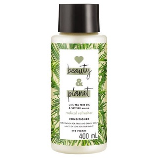 Dầu xả LOVE BEAUTY AND PLANET with tea tree oil vetiver aroma chai 400ml thumbnail