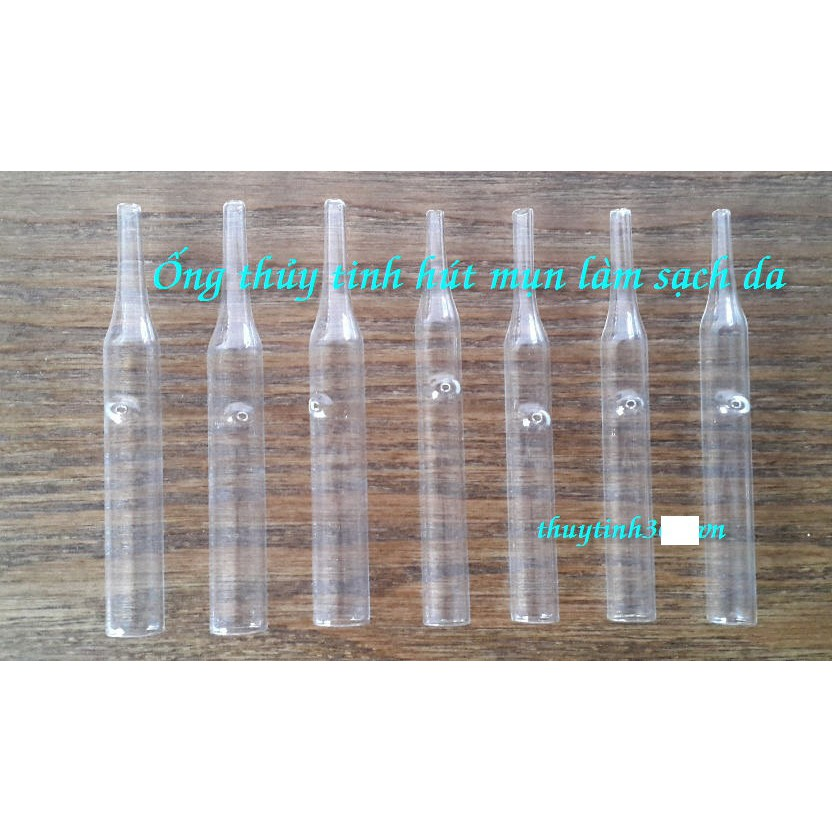 Ống hút mụn thủy tinh combo 05 ống