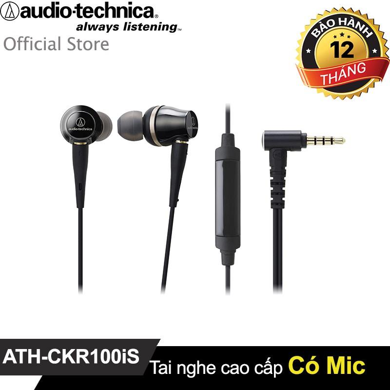 Tai nghe Audio-techncia nhét tai có Microphone ATH-CKR100iS
