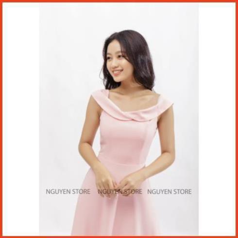 Đầm Nữ Xòe Trễ Vai Chiết Eo Tôn Dáng Siêu Xinh. Váy Nữ Trễ Vai Phong Cách Hàn Quốc Hàng Siêu Cấp