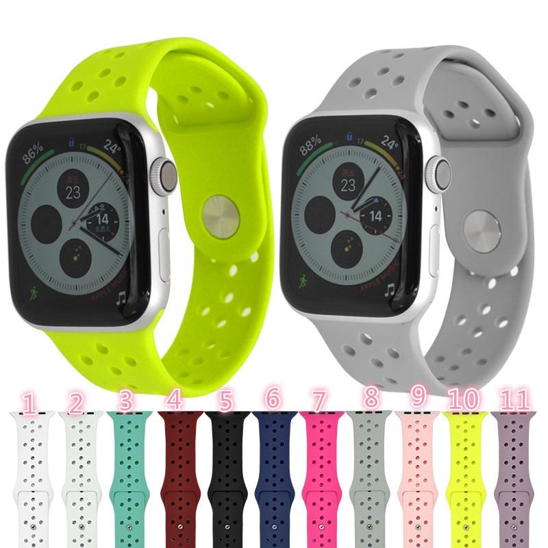 Dây đeo silicon 42mm 38mm cho đồng hồ thông minh Apple
