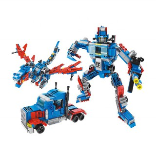 Bộ lắp ráp Robot biến hình Transformers Optimus Prime 3in1 Lele Brother 8557-4 (478 chi tiết)
