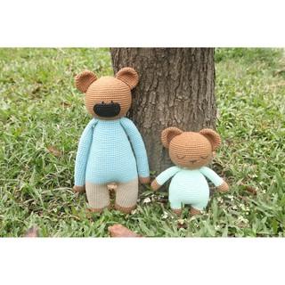 Gấu nâu áo xanh – Toys made by The Bunny