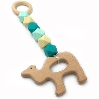YYstore Em bé Đồ chơi bằng gỗ Đồ chơi trẻ em Răng Vòng đeo tay Trẻ em Molar Teether Niềng răng