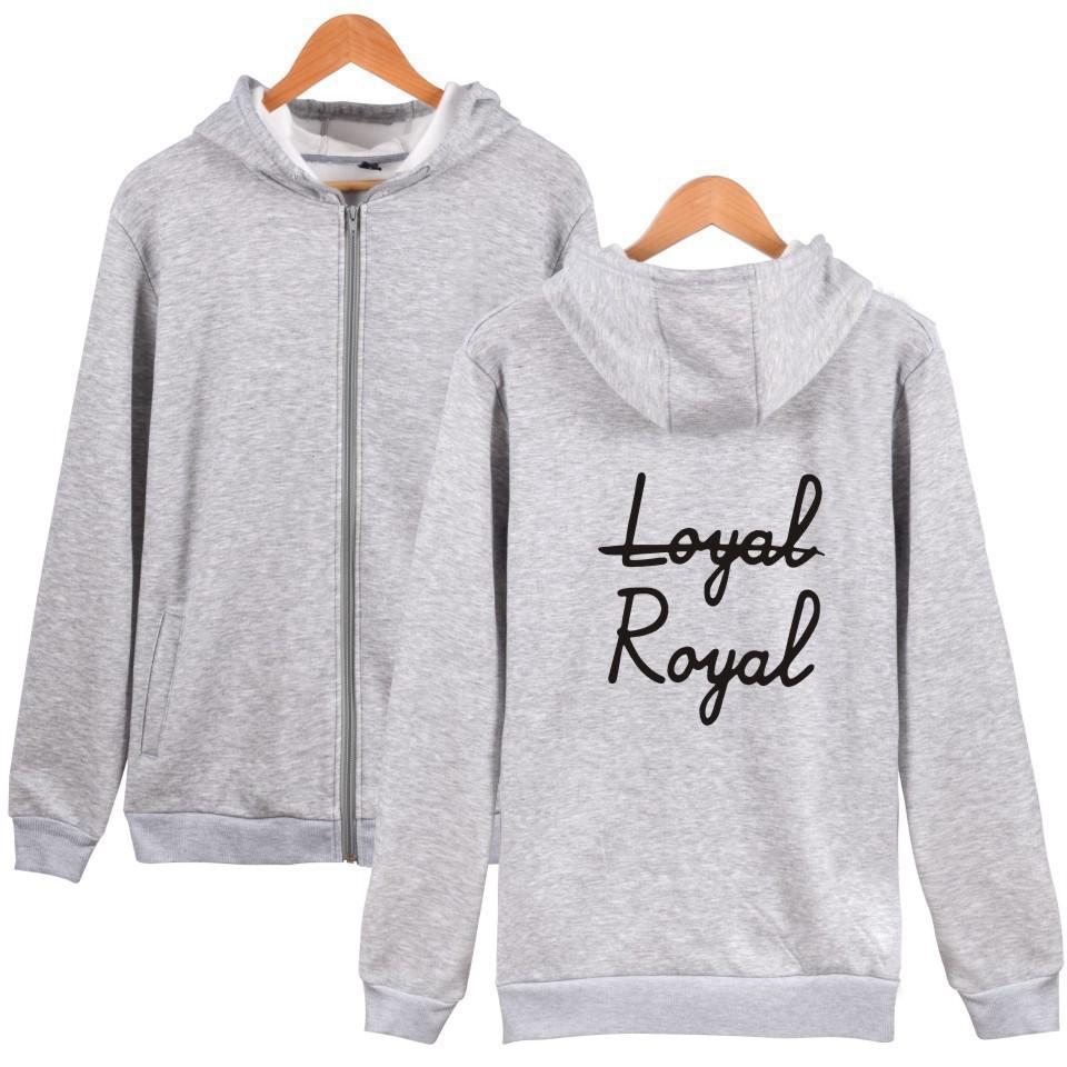BTS V -VAPP Zip Sweater Coat Men and Women Zipper Hoodie Jacket Loyal Royal