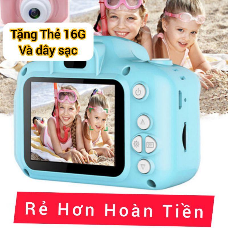 Máy ảnh Trẻ màn hình LCD 1080p Tặng Thẻ Nhớ 16G Đồ Chơi Thể thao