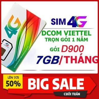 Sim 4G Viettel D900 D500 Trọn Gói 1 Năm Không Cần Nạp Tiền