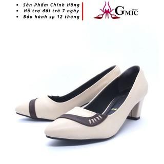 Giày Cao Gót  Nữ Đê Vuông 5P Form Chuẩn GMIC |  Giày Công Sở Nữ Đẹp Cao Cấp Chất Lượng, Êm Chân NH621