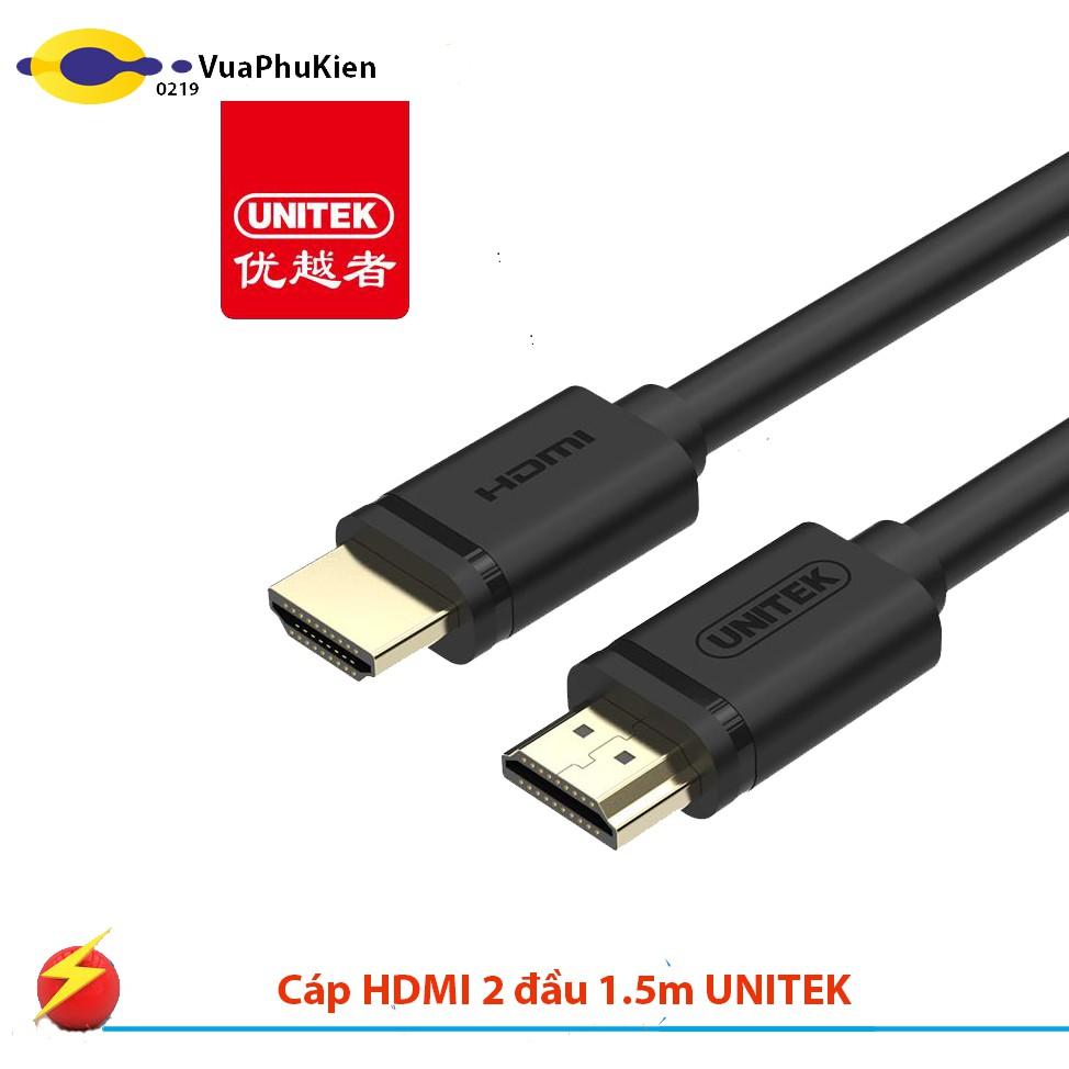 Cáp HDMI 2 đầu 1.5m UNITEK YC137