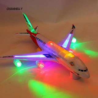 ■Cy Children Kid Gift Toy Autopilot Flash Sound Aircraft Music Lighting Toys Airplane