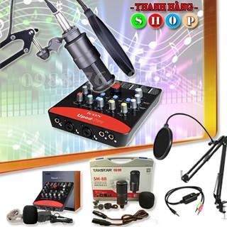 Combo Mic thu âm Takstar SM-8B Full và Soundcard Icon Upop Pro