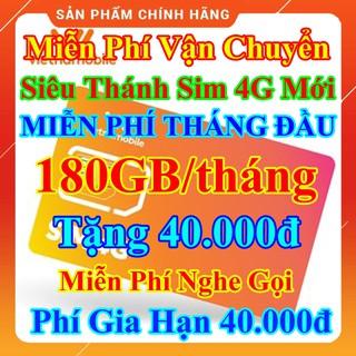 Siêu Thánh Sim 4G Mới Vietnamobile 180GB/Tháng, Miễn Phí Tháng Đầu, Tặng 40.000đ, Nghe Gọi Nội Mạng Miễn Phí, Sim Giá Rẻ
