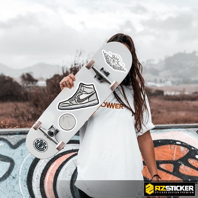 [Singer Sticker] Hình Giày Jokdan   Sticker Dán Xe, Tem Dán Xe Máy, Xe Điện Chống Thấm Nước, Chống Bay Màu
