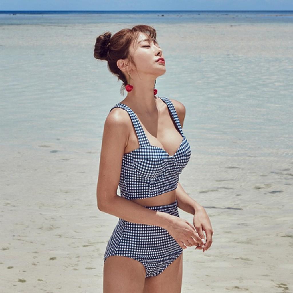 Set Đồ bơi tập bơi bikini tắm biển nữ rời phong cách hàn quốc 2019 ( có sẵn XL ) | BigBuy360