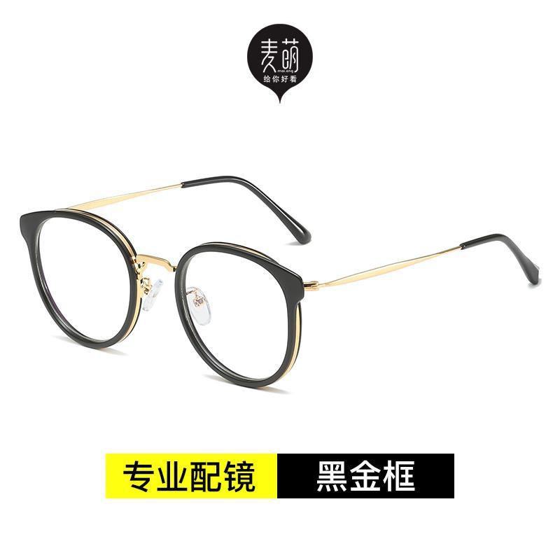 Mắt kính thiết kế phong cách retro khung tròn giản dị