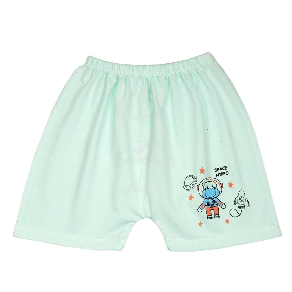 Combo 5 Quần đùi mùa hè IN MÔNG  chất cotton cho bé trai, bé gái từ 3-13kg- 5QĐIM55