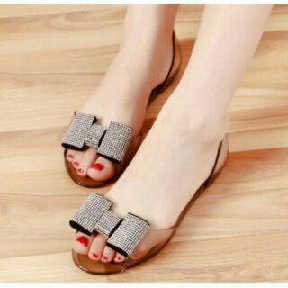 Giày nhựa đính đá thumbnail