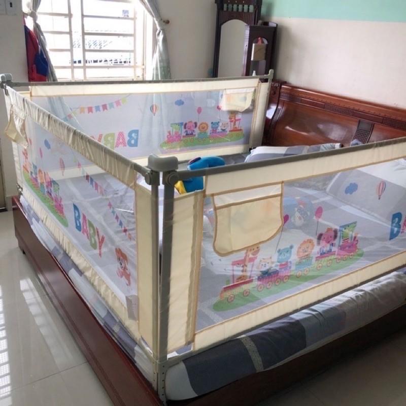 Bộ 3 thanh chắn giường cao 88cm an toàn cho bé