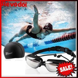 ( Xả kho sập sàn) Kính bơi cao cấp, Sét mũ kèm kính bơi  - bảo hành uy tín
