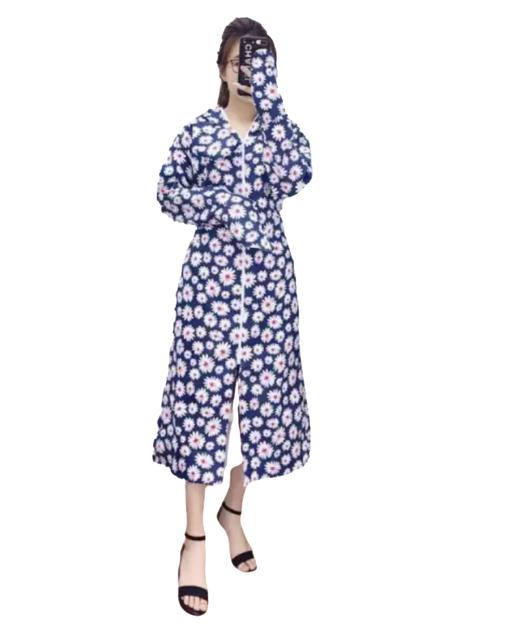 Áo chống nắng dài thô kate kèm khẩu trang