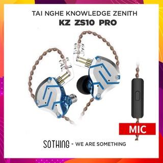 Tai Nghe Nhét Tai Có Mic Knowledge Zenith KZ ZS10 PRO 4BA + 1DD - Hàng Chính Hãng thumbnail