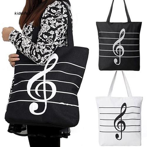 KDLF_Women Shoulder Bag Canvas Handbag Totes Shopper Fashion Travel Musical Bags