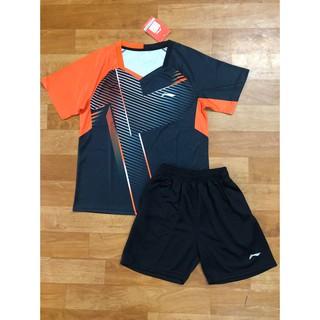 Quần áo cầu lông Lining 5162 đen cam (nam,nữ) thumbnail