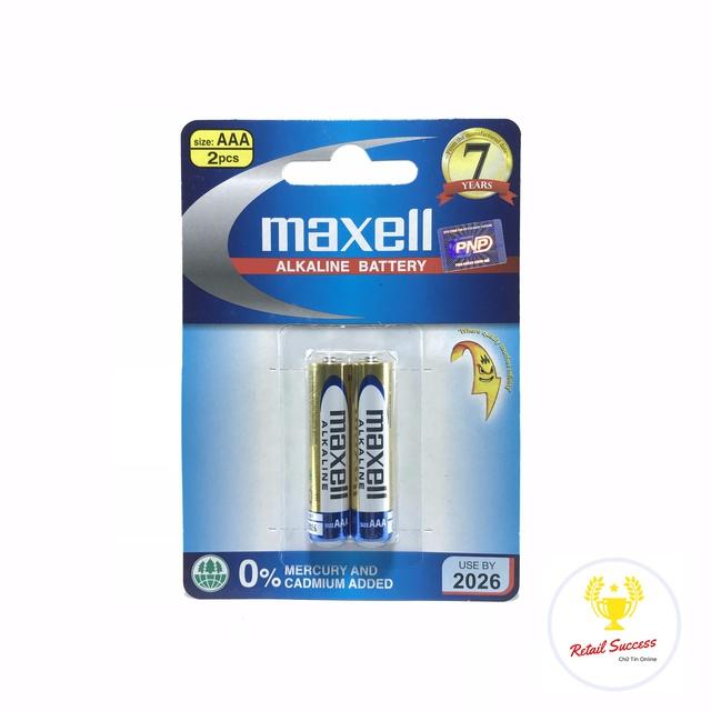 Pin tiểu Pin đũa MAXELL ALKALINE vỉ 2 viên AA | AAA thương hiệu Nhật Bản [HÀNG CHUẨN]  RetailSuccess | Retail Success