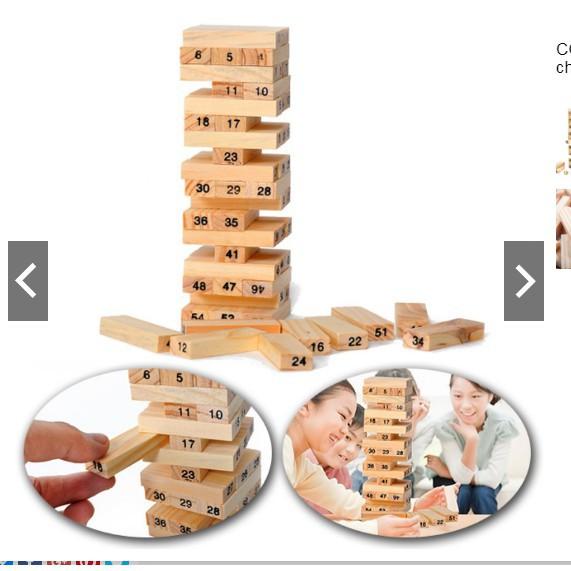Bộ đồ chơi rút gỗ 54 chi tiết sáng tạo cho bé (HM)