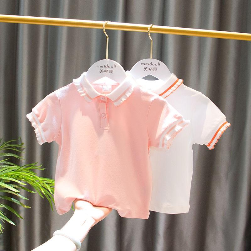 Áo Thun Polo Tay Ngắn Thời Trang 2020 Cho Bé Gái