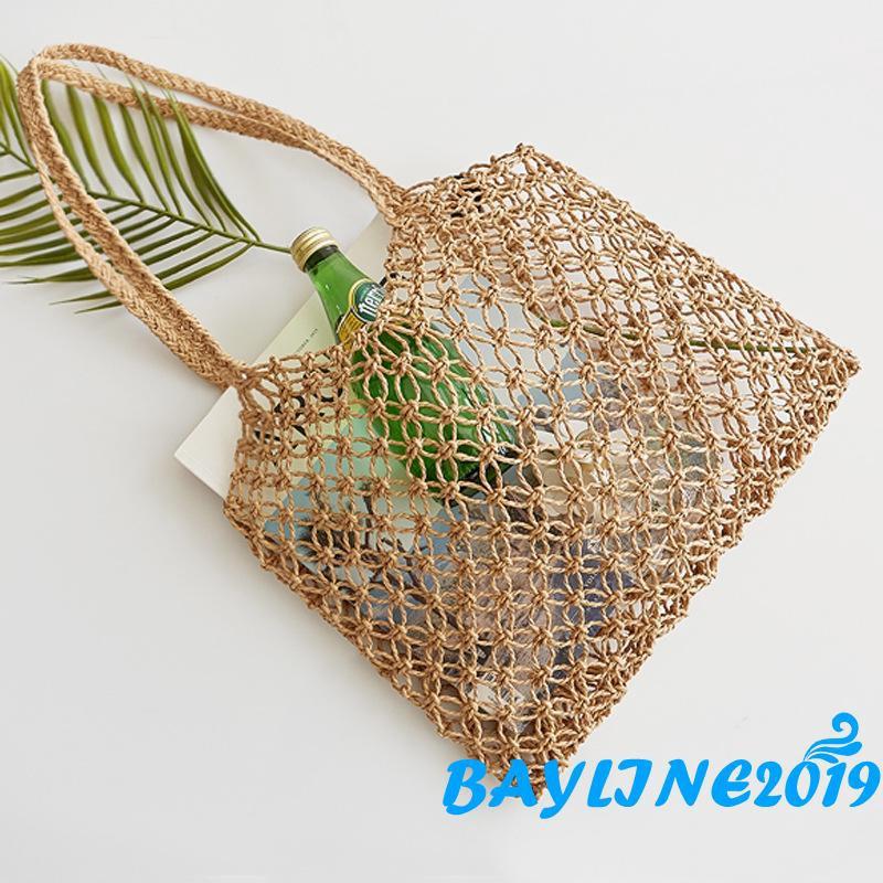 Túi xách đan rơm thiết kế thời trang mùa hè cho nữ