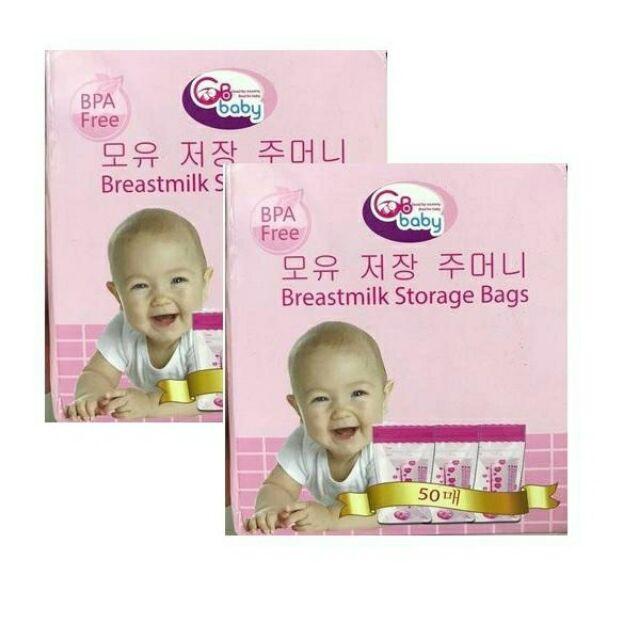 Combo 2 hộp túi trữ sữa Gb baby(100 túi)