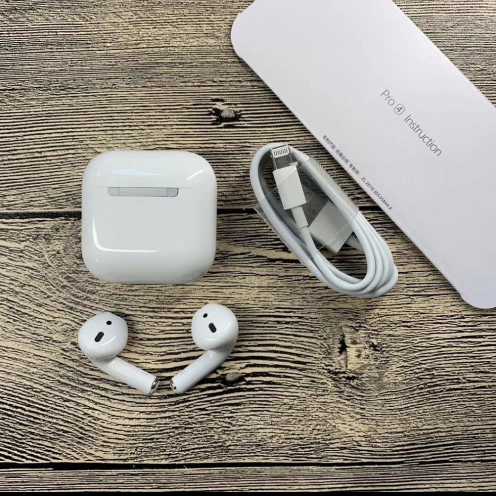 [Mã ELFLASH5 giảm 20K đơn 50K] Tai nghe Air Pro 4 TWS 5.0 Bluetooth Định vị đổi tên Âm Thanh Stereo Cực Chuẩn BH 1 Đổi 1