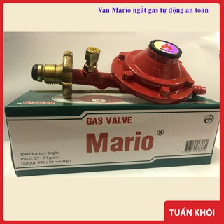 [Mã ELFLASH5 giảm 20K đơn 50K] Van Gas Mario Van Bếp Gas Ngắt Gas Tự Động An Toàn