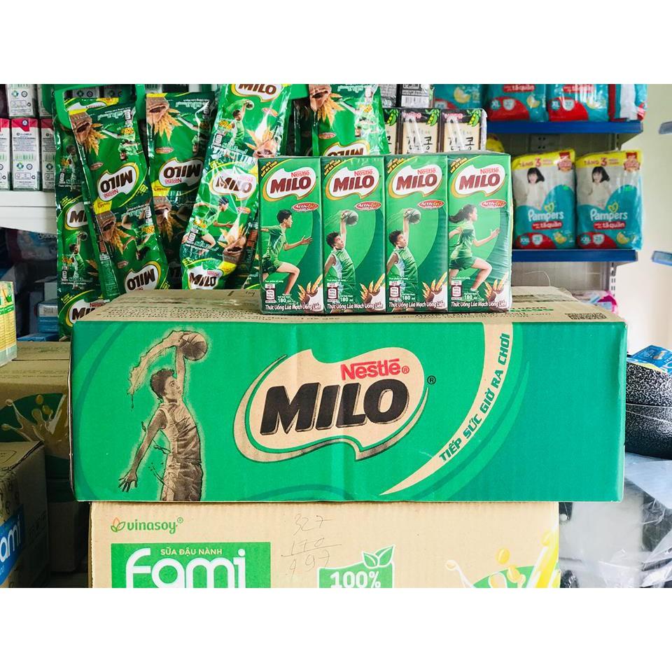 Sữa Nestle MILO Nước 1 thùng 48 hộp 180ml