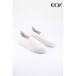 Giày Lười Vải Nữ Cox Shoes White 3509