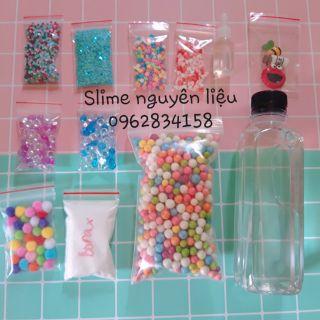 Kit slime làm slime trong 14 món tặng hũ