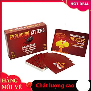 [Giảm giá] Bài Mèo Nổ Exploding Kittens 7+ Giá Rẻ_Chính hãng