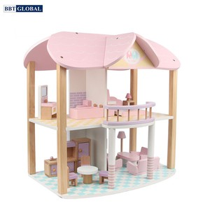 Đồ chơi trẻ em ngôi nhà búp bê bằng gỗ BBT Global MSN19029 thumbnail