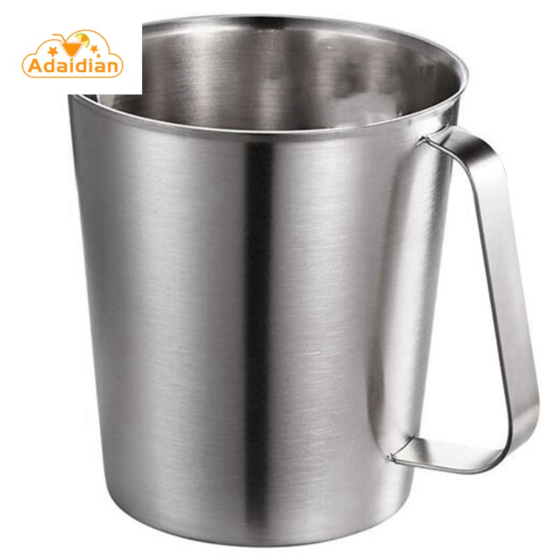 ◊HOT◊Thick Stainless Steel with Scale Frother Kitchen Baking Tea Liquid Milk Coffee Large Capac