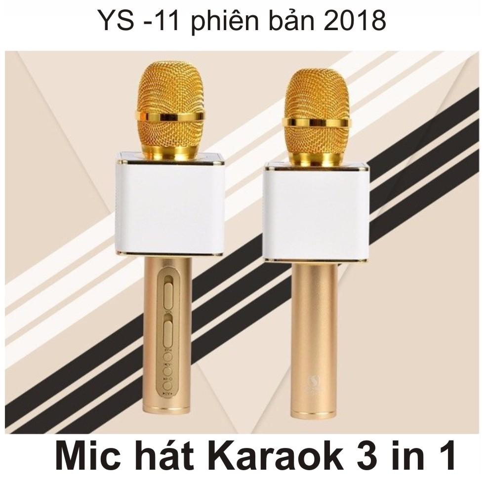 Mic hát Karaoke bluetooth Ys 11 3in1 cao cấp (Vàng)