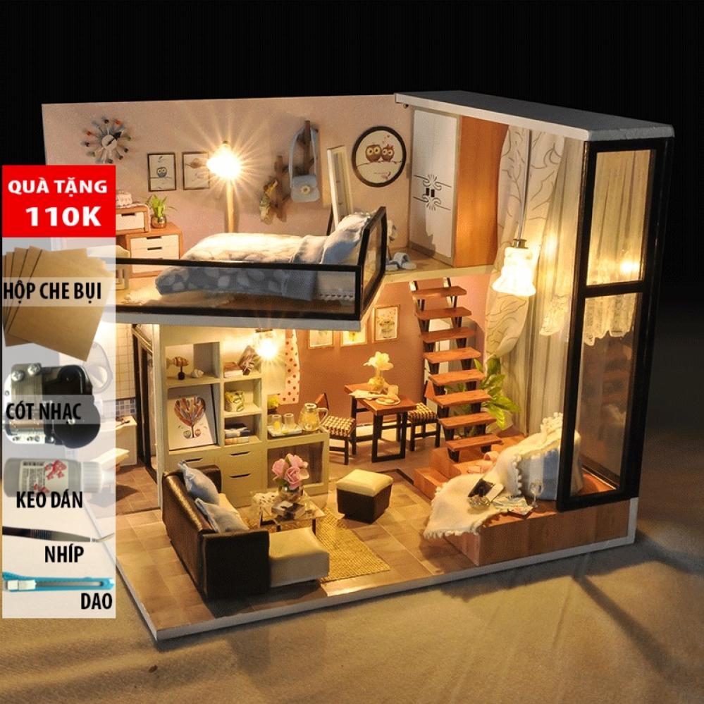 Đồ trang trí Mô hình nhà lắp ghép có đèn Life Dream TYU 16D DochoiHCM