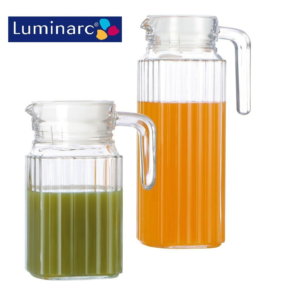 Combo 2 Bình nước thủy tinh Luminarc Quadro 0.5L + 1.3L