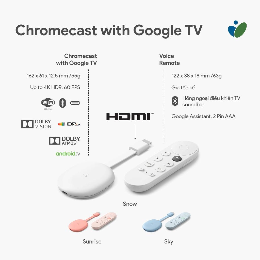 Thiết Bị Stream Google Chromecast with Google TV - Chính Hãng