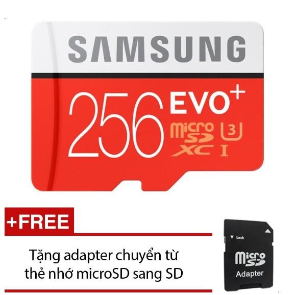 Thẻ nhớ Micro SD Samsung EVO Plus 256GB + Tặng 1 Adapter chuyển Micro SD sang SD