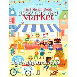 Usborne sticker book MARKET
